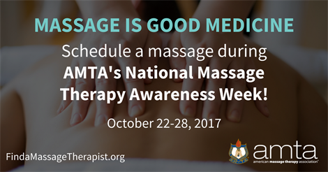AMTA's National Massage Therapy Awareness Week